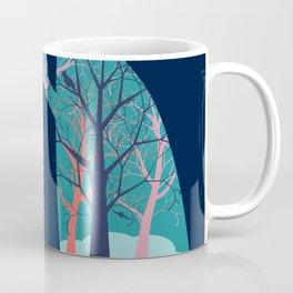 Human lungs with abstract forest inside illustration Coffee Mug