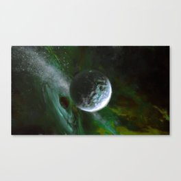 Planet and Black Hole Canvas Print