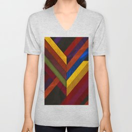Abstract #279 Unisex V-Neck
