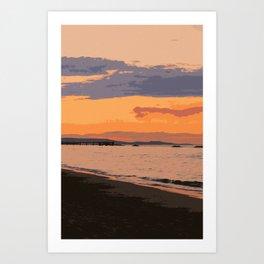 My dream by the Sea Art Print