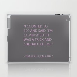 Poem #1077 Laptop & iPad Skin