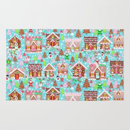 Gingerbread House Christmas Winter Candy, sweets.christmas gift, holiday gift for kids of all ages, Rug
