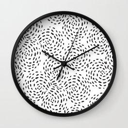 Dotted Spirals Wall Clock