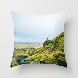He Found the River's Valley (Color) Throw Pillow
