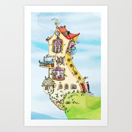 Maison du bonheur Art Print