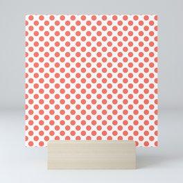 Living Coral Small Polka Dots Mini Art Print