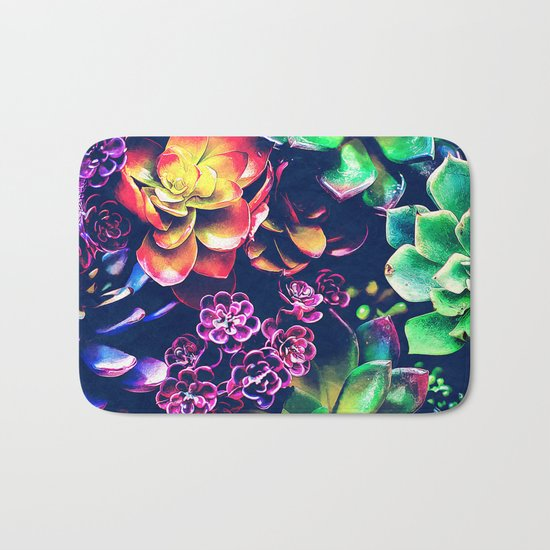 Colorful Plants  Bath Mat