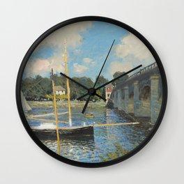 Claude Monet The Bridge at Argenteuil 1874 Painting Wall Clock