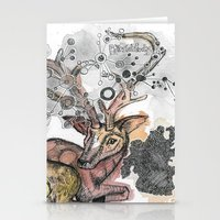 fawn Stationery Cards featuring Fawn by Pfirsichfuchs