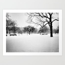 Trinity Bellwoods in the Snow Art Print