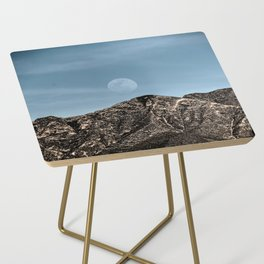 Moon over the Franklin Mountains Side Table