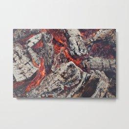 Burn Metal Print