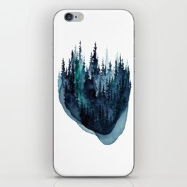Turquoise Glow - Pine Forest iPhone Skin