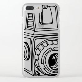 Medium Format SLR Camera Drawing Clear iPhone Case