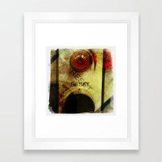 reset Framed Art Print