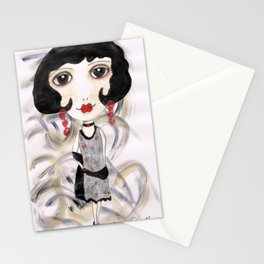Margot, the flapper girl Stationery Cards
