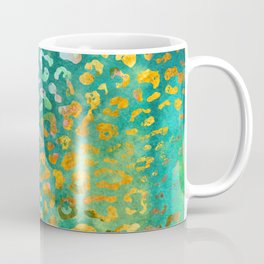 Green Watercolor Leopard Print Pattern - Animal Print Design Coffee Mug