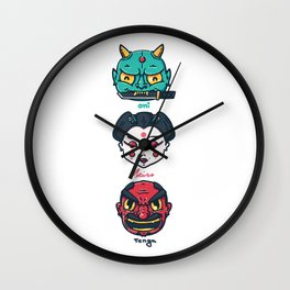 Folklore Totem Wall Clock