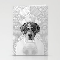 rottweiler Stationery Cards featuring Ornate Rottweiler by Adrian Dominguez