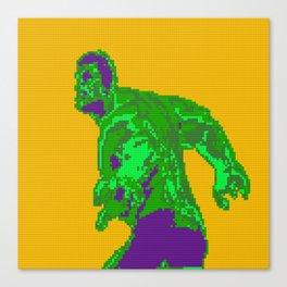 Lego portrait of Hulk. Canvas Print