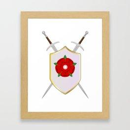 Lancastrian Shield Framed Art Print