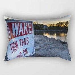 No Wake Zone Rectangular Pillow