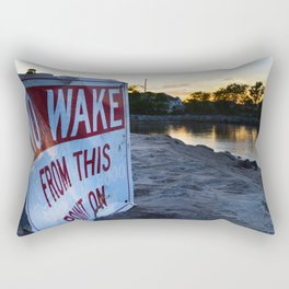 No Wake Zone Rectangular Pillow