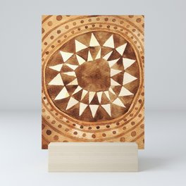 Tribal Triangle Circle Mini Art Print