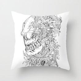 Majin Buu Doodle Throw Pillow
