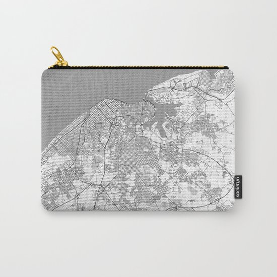 Havana Map Line Carry-All Pouch