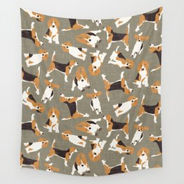 beagle scatter stone Wall Tapestry