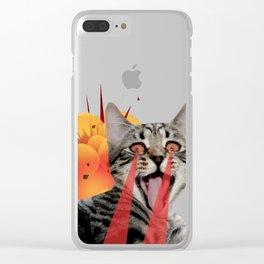 CAT ATTACK! Clear iPhone Case