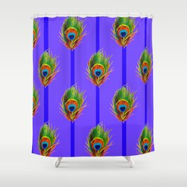 Decorative Contemporary  Peacock Feathers Art Shower Curtain