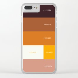 Color Palette #15: Full English Breakfast Clear iPhone Case