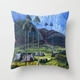 Odds And Ends Emily Carr Throw Pillow
