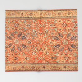 Antique Persian Sultanabad Rug Print Throw Blanket