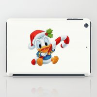 donald duck iPad Cases featuring Christmas baby Donald Duck by Yuliya L