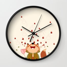 Chasser les papillons Wall Clock