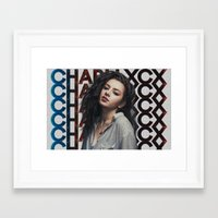 charli xcx Framed Art Prints featuring Charli XCX  by Illuminany