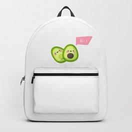 Сute 2 halves of avocado say hello Backpack