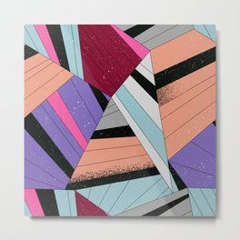 Colored Curves Metal Print