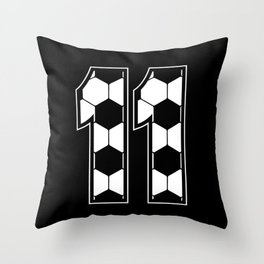Soccer Lover Player Eleven 11th Birthday Gift Throw Pillow