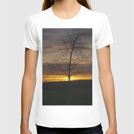 Sunset at the end of town T-shirt