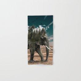 Surrealist elephant on a dry African landscape photo Hand & Bath Towel