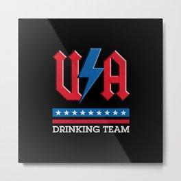Drinking team USA rock n roll thunder lightning style  Metal Print
