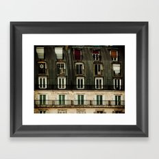 Parisian Windows. Framed Art Print