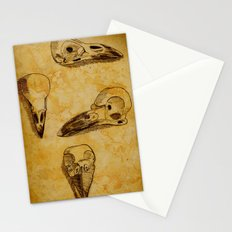 Magpie Bird Skull Drawing Stationery Cards