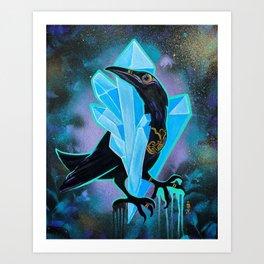SayBen the Quartz Raven Spirit Art Print