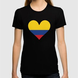 Colombian Flag Heart T-shirt