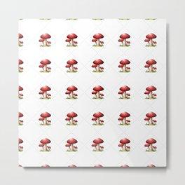 Happy Mushrooms Metal Print